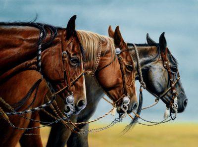 Vaquero Ranch Horses equestrian art print by Calgary Artist Shannon Lawlor
