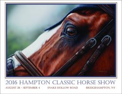 equestrian poster art by Calgary Artist Shannon Lawlor Calgary Hampton Classic Horse Show Bridgehampton New York USEF