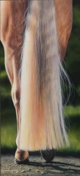 Original equine painting by Shannon Lawlor - Yellow Tale