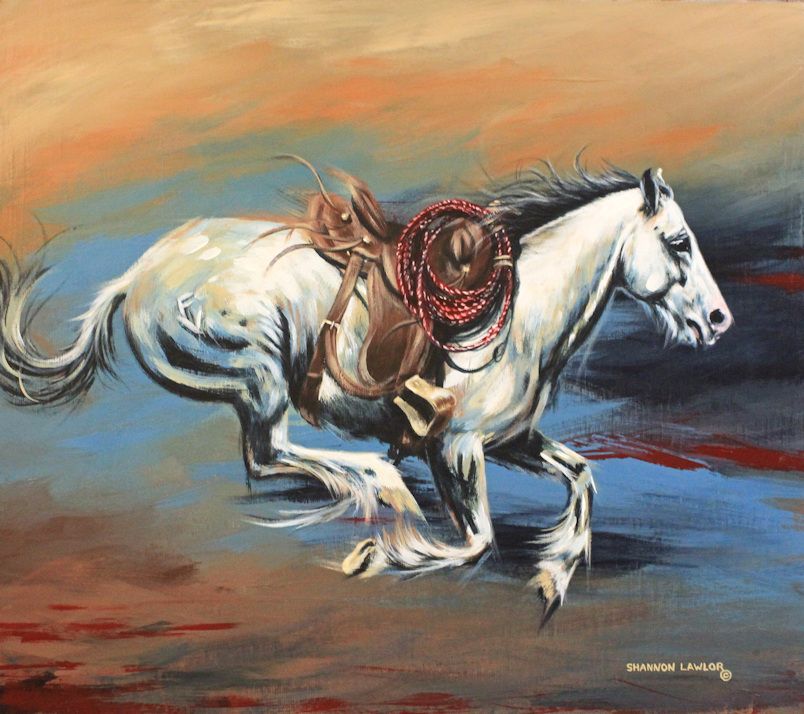 When Pearl Snapped Original Acrylic Painting by Calgary Artist Shannon Lawlor