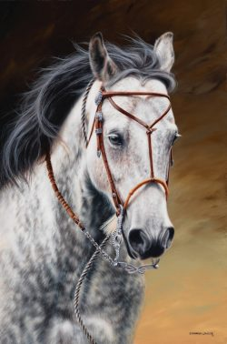Pard is a commissioned painting by Calgary equine artist Shannon Lawlor